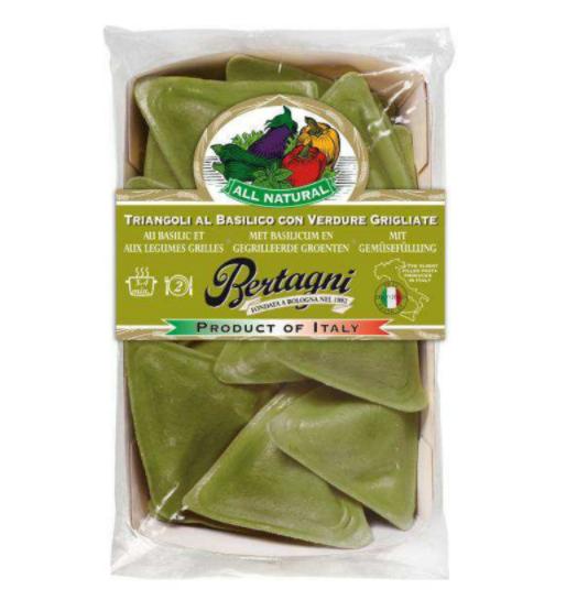 Triangoli Basilic & Légumes grillés, Bertagni (250 g)