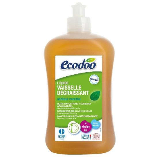 Liquide vaisselle dégraissant à la menthe BIO, Ecodoo (1 L)