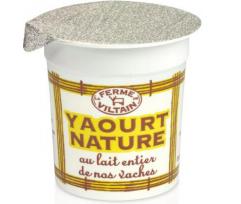 Yaourt nature au lait entier, La ferme de Viltain (125 g)