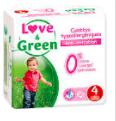 Couches Bébé Hypoallergéniques 0% Love & Green - Taille 4/7-14kg (x 30 couches)