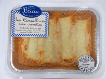 Cannellonis aux crevettes, Maison Briau (750 g)