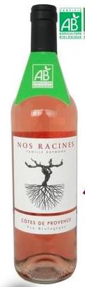 Côtes de Provence Rosé BIO Nos Racines 2017 (75 cl)