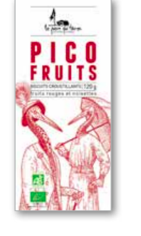Biscuit croustillant Pico Fruits, La pierre qui tourne (120 g)