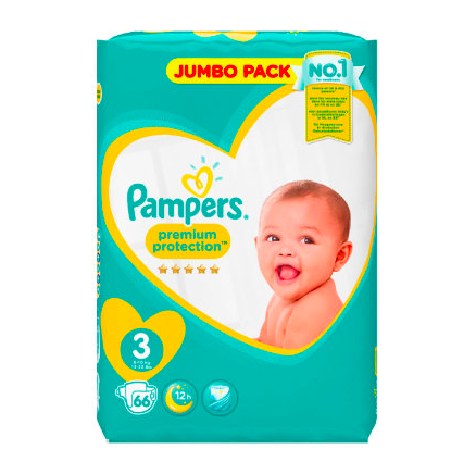 Couches Premium Protection Taille 3 / 5-9kg, Pampers (x 29)