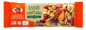 Barre de céréales aux baies de Goji BIO, Taste of Nature (40 g)