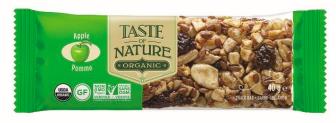Barre de céréales à la pomme BIO, Taste of Nature (40 g)