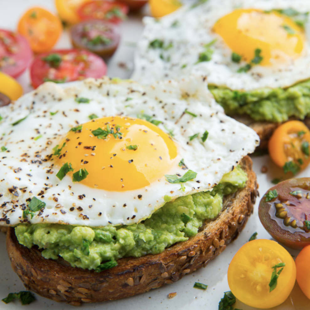 Kit avocado toasts with eggs (6 toasts)