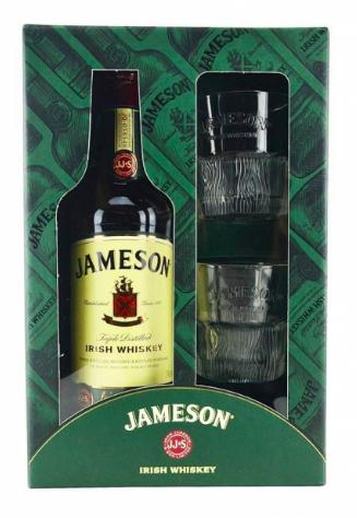 Whisky irlandais Jameson 40° (Coffret 70 cl + 2 verres)