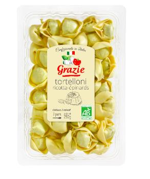 Tortelloni Ricotta Epinards BIO, Grazie (250 g)
