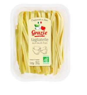 Tagliatelle aux Œufs Frais BIO, Grazie (250 g)