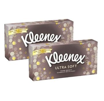 Boites de mouchoirs ultra soft, Kleenex LOT DE 2 (2 x 80)