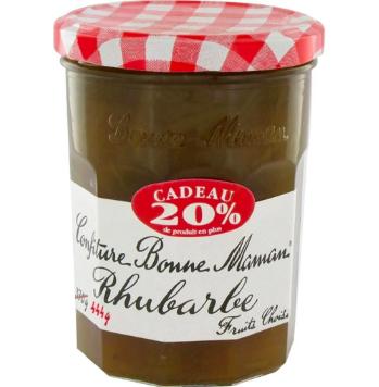 Confiture Rhubarbe, Bonne Maman (370 g + 20%)
