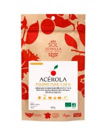 Acérola en poudre BIO, Sol Semilla (50 g)