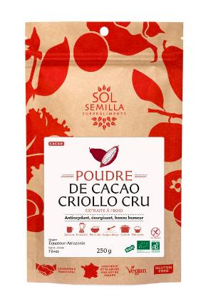 Cacao cru en poudre BIO, Sol Semilla (250 g)