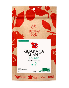 Guarana blanc en poudre BIO, Sol Semilla (50 g)