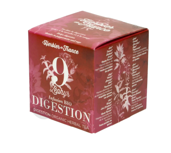 Infusion n°9 Digestion - Zéphyr BIO, Herbier de France (x 15 sachets)