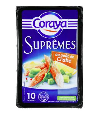 Bâtonnets Suprêmes au goût de crabe, Coraya (x 10, 156 g)