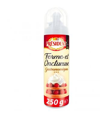 Crème fouettée ferme et onctueuse, Président (250 g)