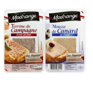 Terrine de campagne et mousse de canard, Madrange (2 x 50 g)
