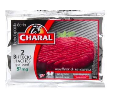 Steack haché 5% MG, Charal (2 x 130 g)
