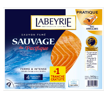 Saumon fumé sauvage, Labeyrie (4 tranches, 120 g)