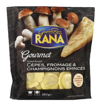 Grand Ravioli aux cèpes,  fromage et champignons émincés, Giovanni Rana (250 g)