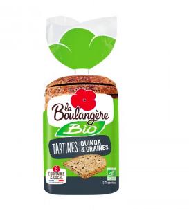 Tartine quinoa et graines BIO, La Boulangère (450 g)