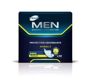 Serviettes Men niveau 2, Tena (x 10)