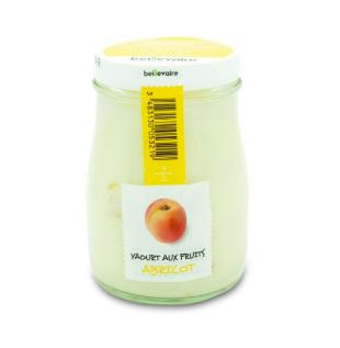 Yaourt à l'ancienne aux fruits abricot, Beillevaire (180 g)