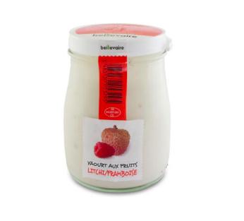 Yaourt à l'ancienne aux fruits framboise litchi, Beillevaire (180 g)