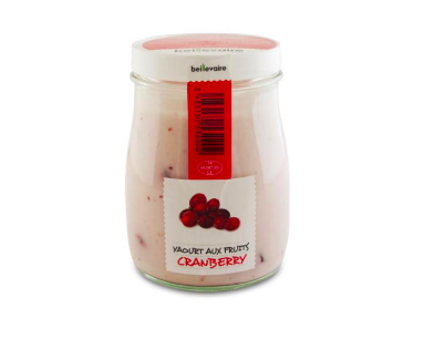 Yaourt à l'ancienne aux fruits cranberry, Beillevaire (180 g)