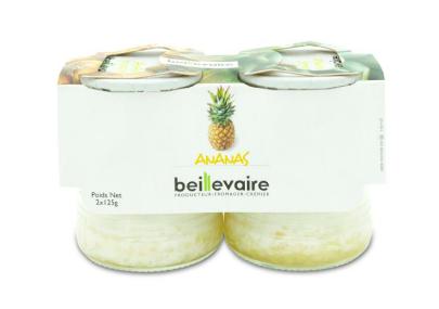 Yaourt aux fruits ananas, Beillevaire (x 2)