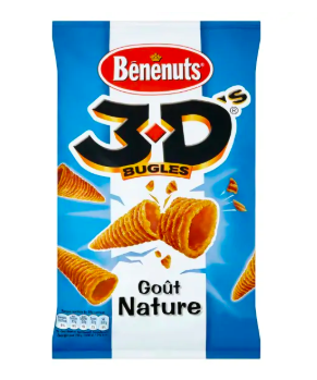 3 D'S bugles nature, Bénénuts (150 g)