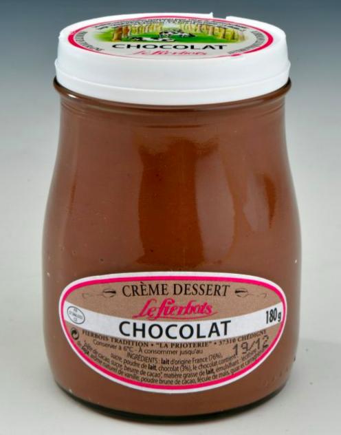 Crème dessert chocolat, Fierbois (180 g)