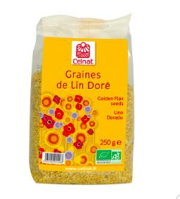Graines de lin doré BIO, Celnat (250 g)