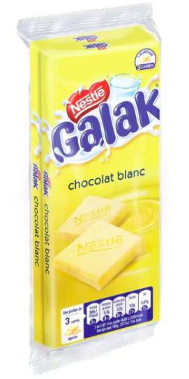 Chocolat blanc Galak, Nestlé (2 x 100 g)