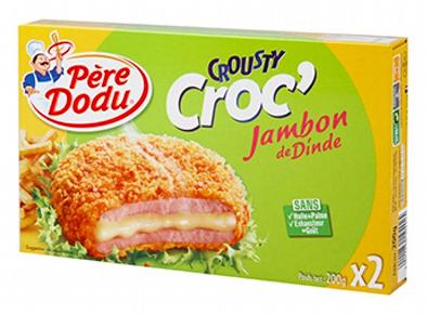 Crousty Croc' au jambon de dinde, Père Dodu (x 2, 200 g)