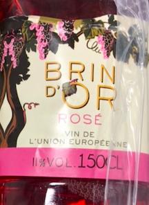 Vin de table rosé, Brin d'or (1, 5 L)