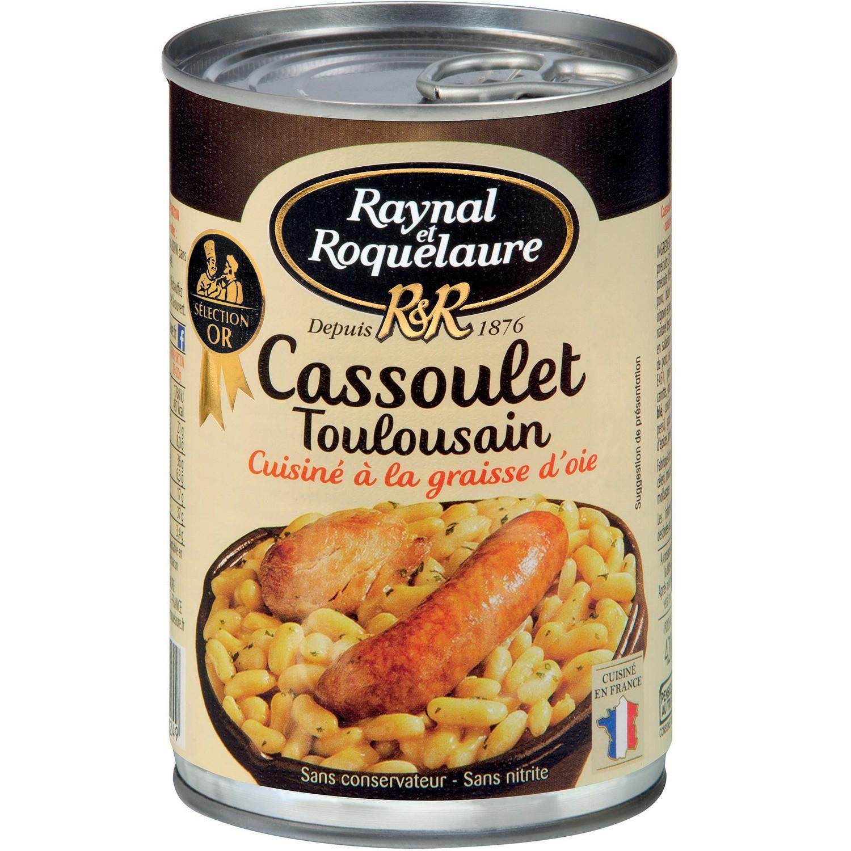 Cassoulet Toulousain à la graisse d'oie, Raynal et Roquelaure (420 g)