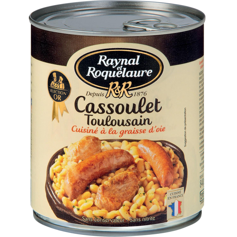 Cassoulet Toulousain à la graisse d'oie, Raynal et Roquelaure (840 g)