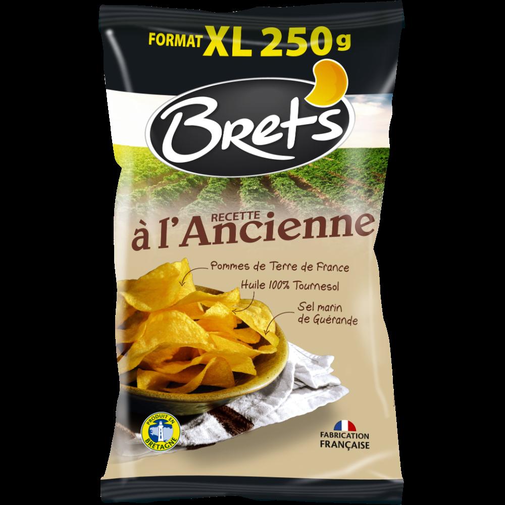 Chips à l'ancienne au sel de Guérande, Bret's (250 g)