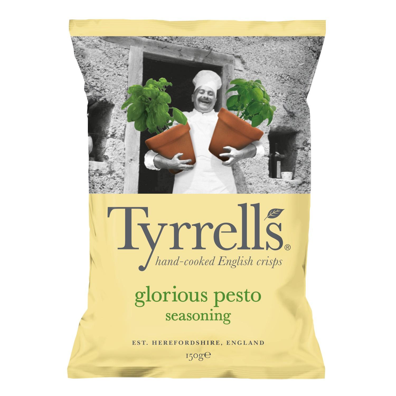 Chips pesto et parmesan, Tyrell's (150 g)