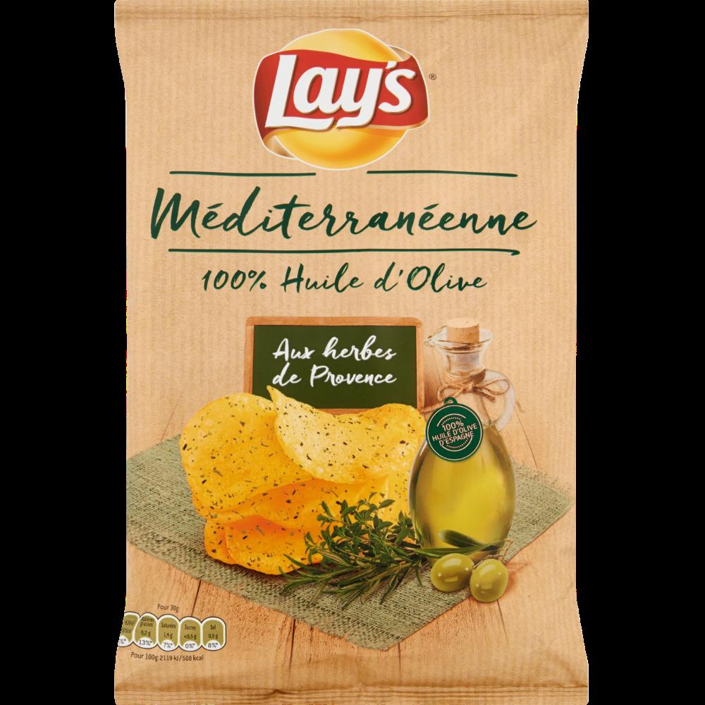 Chips recette méditerranéenne aux herbes de Provence, Lay's (120 g)