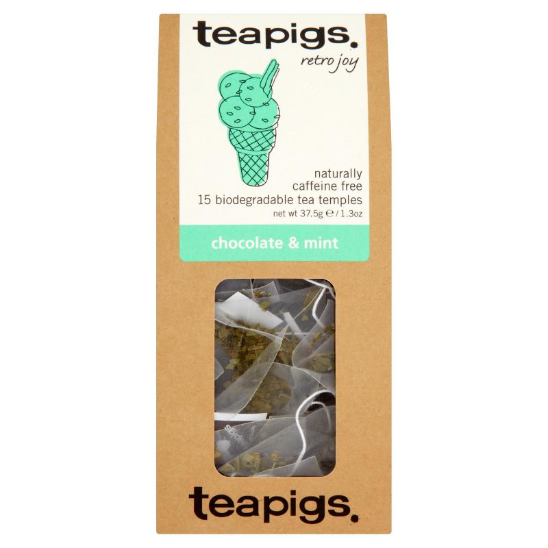 Thé menthe poivrée et chocolat, Teapigs (x 15 sachets)
