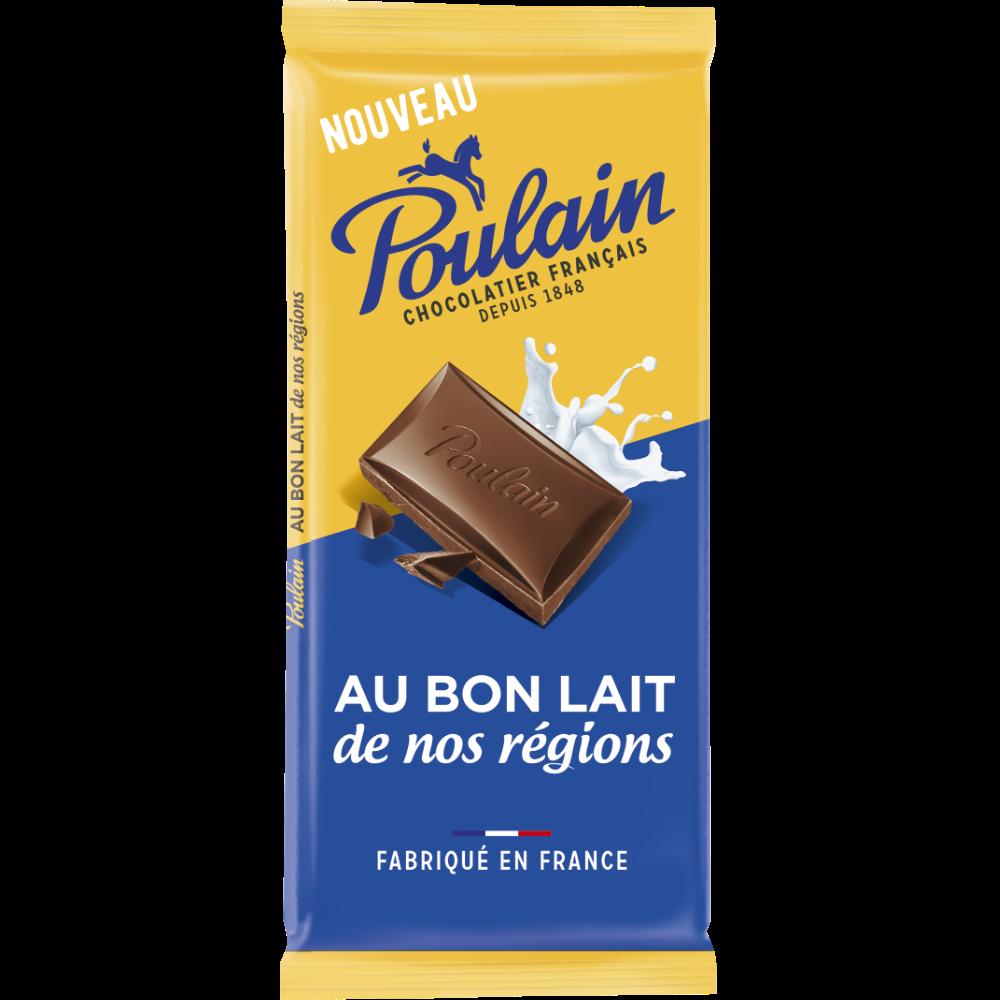 Chocolat lait, Poulain (3 x 95 g)