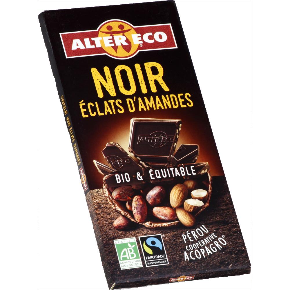 Chocolat noir aux amandes BIO, Alter eco (100 g)