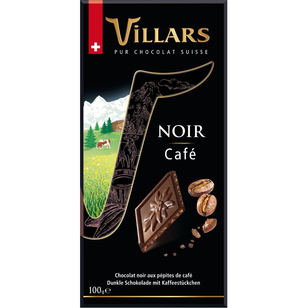 Chocolat noir aux pépites de café, Villars (100 g)