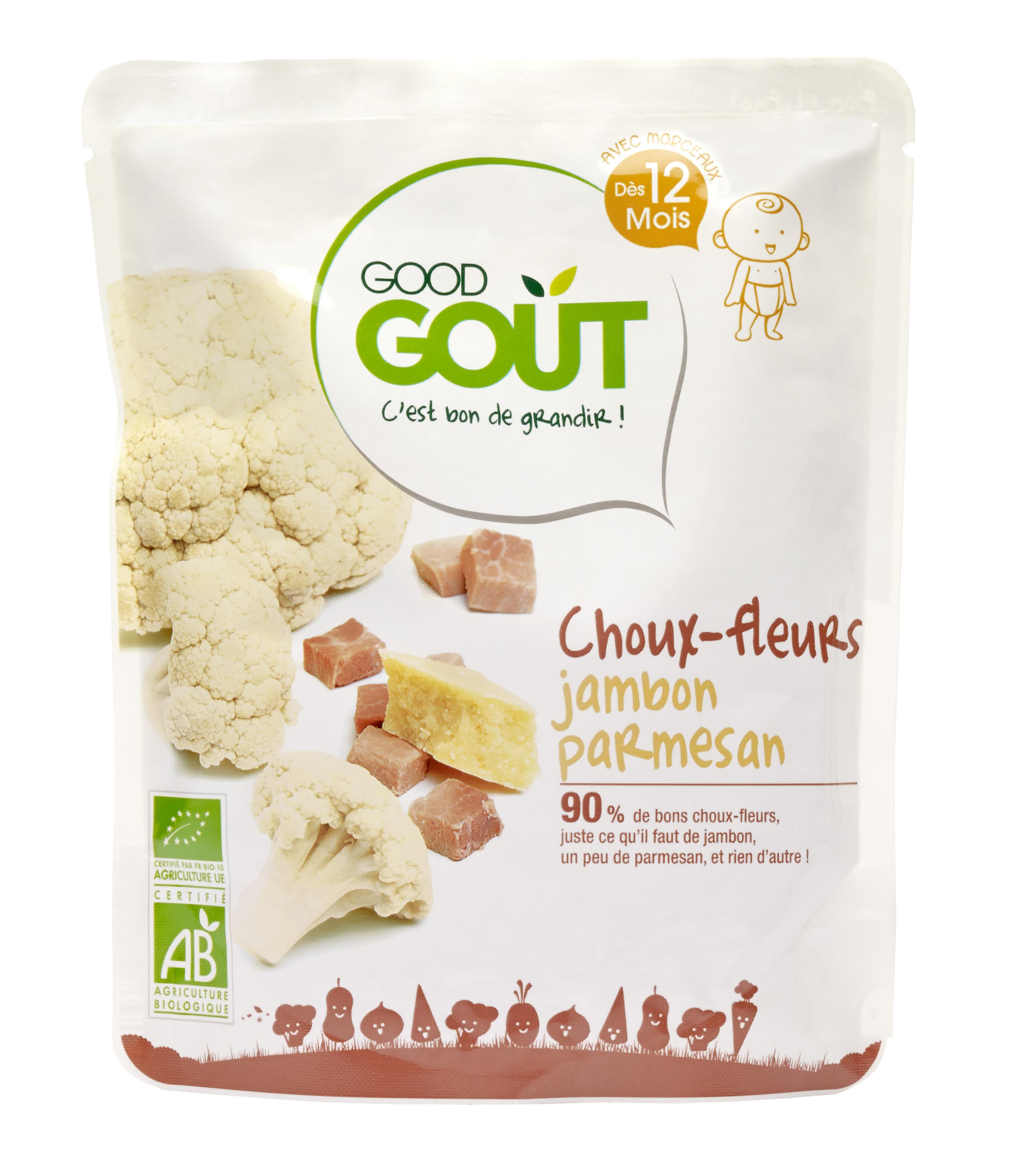 Chou-fleur, jambon et parmesan BIO, Good Goût (220 g) - dès 12 mois
