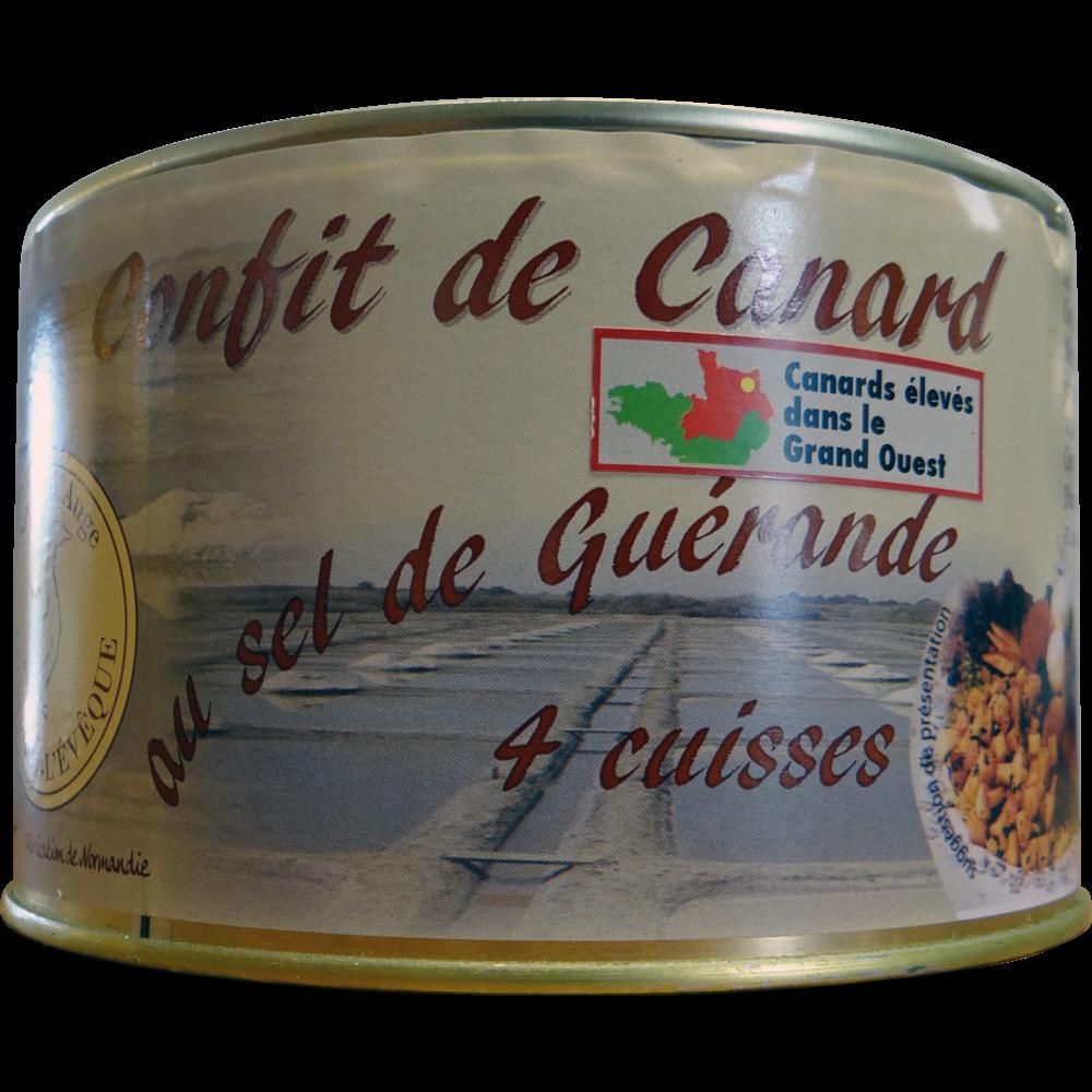 Confit de canard 4 cuisses, Saveur d'Auge (1,25 kg)