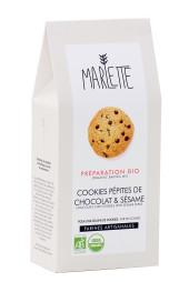"""Préparation """"Cookies pépites de chocolat noir & sésame"""" Bio, Marlette"""